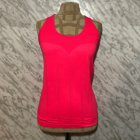 Fabletics Delta Tank Top Hot Pink Size Large